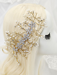 Women's Flower Girl's Rhinestone Alloy Imitation Pearl Headpiece-Wedding Special Occasion Headbands 1 Piece