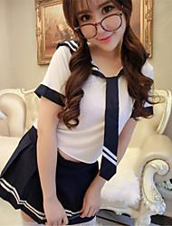 cheap -SKLV Women's Cotton Blends School Uniforms Ultra Sexy/Suits Nightwear/Lingerie
