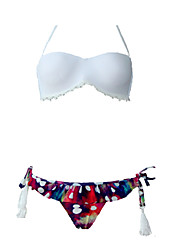 abordables -Mujer Bikini - Estampado Halter / Relleno
