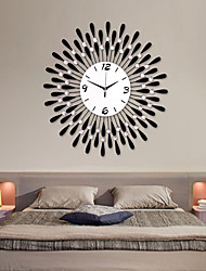 Creative Modern Black Analog Water-Drop Pattern Iron Wall Clock