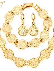 cheap -Charm Vintage Cute Party Work Casual Link/Chain Platinum Plated Gold Plated Alloy Bracelet Necklace Earrings