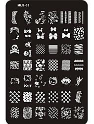 Lovely Nail Art Stamping Image Plate Nail Art Template Nail Stencil No.5