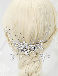 cheap -Imitation Pearl Rhinestone Alloy Hair Combs 1 Wedding Special Occasion Headpiece