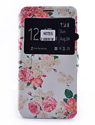 povoljno -Θήκη Za Samsung Galaxy Samsung Galaxy Note Utor za kartice / sa stalkom / s prozorčićem Korice Cvijet Mekano PU koža za Note 5 / Note 4 / Note 3