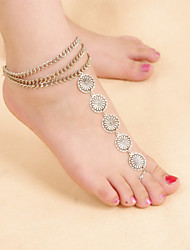 cheap -Anklet - Women's Screen Color Vintage Cute Party Work Casual Folk Style Multi Layer Alloy Anklet For