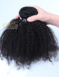 cheap -Clip In Human Hair Extensions Human Hair Afro Kinky Curly 7Pcs/Pack 18 inch 20 inch 22 inch 24 inch 26 inch