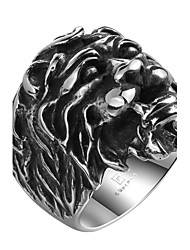 cheap -Men's Knuckle Ring Jewelry Punk Personalized Stainless Steel Alloy Geometric Lion Jewelry For Halloween Street
