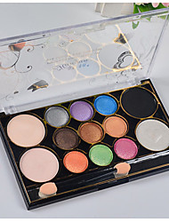 13 Palette di ombretti Secco / Minerale Gamma di colori dell'ombretto Cipria Normale Trucco giornaliero / Trucco per feste