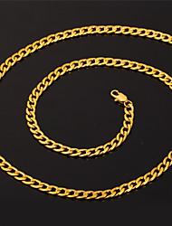 Недорогие -Муж. Ожерелья-цепочки Кубинская ссылка Цепь Foxtail Коробочная цепь Камни Мода Хип-хоп Позолота 18К Нержавеющая сталь Серебрянное покрытие Черный Белый Золотой Ожерелье Бижутерия Назначение