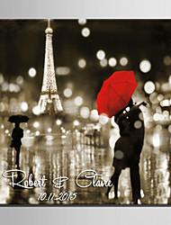 E-HOME® Personalized Signature Canvas invisible Frame Print-Kiss The Rain