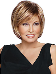 Latest Fashion BOB Short straight Natural Soft Wig Golden Brown with Blonde highlight