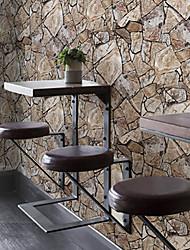 baratos -Geométrico Papel de parede Retro Revestimento de paredes , PVC/Vinil Material adesivo necessário papel de parede , quarto Wallcovering