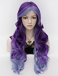 Недорогие -Искусственные волосы парики Волнистый Без шапочки-основы Карнавальный парик Парик для Хэллоуина Очень длинный Фиолетовый