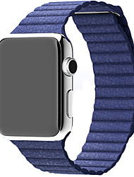 baratos -Pulseiras de Relógio para Apple Watch Series 3 / 2 / 1 Apple Pulseira de Couro Couro Legitimo Tira de Pulso