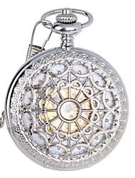 economico -Da uomo Orologio da tasca orologio meccanico Resistente all'acqua Orologi con incisioni Carica automatica Acciaio inossidabile BandaDi