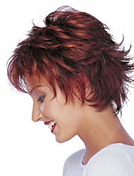 cheap -Europe And The United States  Sell Like Hot Cakes Wine Red Upwards Short Curly Wig