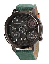 お買い得  -JUBAOLI 男性用 軍用腕時計 航空ウォッチ クォーツ ブラック / 白 / レッド ハンズ レッド グリーン カーキ色