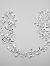 krystal efterligning perle rhinestone legering blomster hovedstykke elegant stil