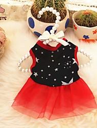 preiswerte -Katze Hund Kleider Hundekleidung Lässig/Alltäglich Sterne Schwarz Kostüm Für Haustiere