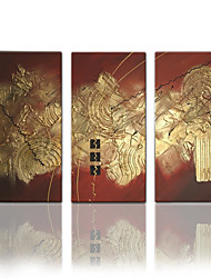 abordables -visuales abstracta de la lona pintura al óleo moderna tres paneles pintados star®hand-