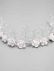 economico -stile elegante di copricapo in imitazione di perle di cristallo
