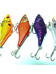 """4 Stück Metallköder Vibration Angelköder Vibration Metallköder g/Unze mm/2-3/4"""" Zoll,Metal Seefischerei Fischen im Süßwasser Spinnfischen"""