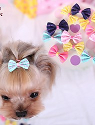 cheap -Cat Dog Hair Accessories Hair Bow Dog Clothes Dark Blue Yellow Rose Blue Pink Mixed Material Costume For Pets Cosplay Wedding