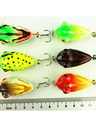 abordables -6 pcs Señuelos duros Cebos Rana Señuelos duros Plástico duro Pesca de Mar Pesca de agua dulce Pesca de Cebo