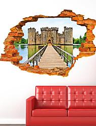 3d adesivos de parede parede adesivos de parede do estilo antigo castelo personalidade da moda criatividade pvc adesivos