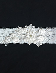 cheap -Lace Wedding Garter with Flower Wedding AccessoriesClassic Elegant Style