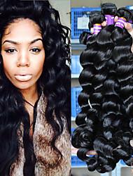 Недорогие -3 Связки Перуанские волосы Свободные волны 10A Натуральные волосы 100% Remy Hair Weave Bundles Человека ткет Волосы 10inch-26inch Нейтральный Ткет человеческих волос Расширения человеческих волос