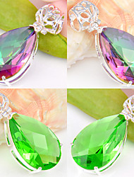 cheap -Women's Pendant - Crystal, Silver Plated Pendant Red / Green For Wedding / Party / Daily
