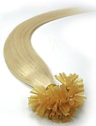extensões de cabelo humano ligação pré linear brasileira fusão queratina naturais u ponta 100 costas
