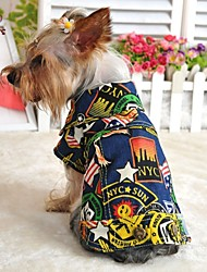cheap -Dog Denim Jacket/Jeans Jacket Dog Clothes Fashion Jeans Dark Blue Light Blue Costume For Pets