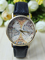cheap -Men's Wrist Watch PU Band World Map