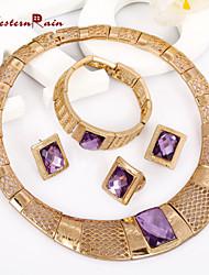Vintage/Niedlich/Party/Büro/Freizeit - Damen - Halskette/Ohrring/Armband/Ring (Legierung/Zirkonia/Strass)