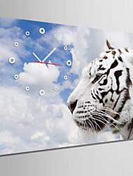 cheap -E-HOME® White Tiger Clock in Canvas 1pcs
