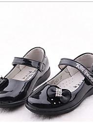 お買い得  -女の子 靴 レザーレット 秋 フラット のために カジュアル ブラック