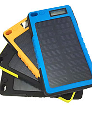 cheap -5800mAh Mobile External Battery with Solar Charge for iphone Samsung and other Mobile Devices(Black/Blue/Yellow/Orange)