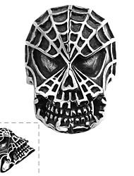 Anel Aço Inoxidável Caveira Moda Prata Jóias Halloween Diário Casual Esportes 1peça