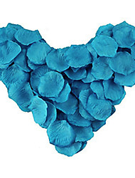 cheap -600Pcs Wedding Peacock Blue Rose Petals, Table Decoration