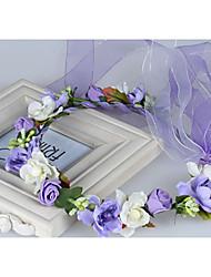 Недорогие -Ткань Головные уборы / венки с Цветы 1шт Свадьба / Особые случаи / Повседневные Заставка
