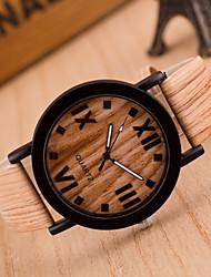 preiswerte -Herren Armbanduhr Quartz Leder Band Khaki 2 # 3 # 4 # 5 # 6 #