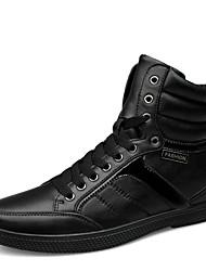 povoljno -Muške Cipele Koža Proljeće Ljeto Jesen Zima Udobne cipele Inovativne cipele Vezanje Za Atletski Kauzalni Crn