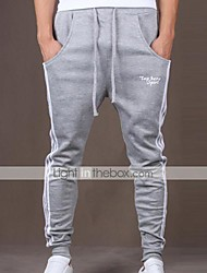 Pantaloni della tuta Uomo Casual / Attività sportive A strisce Cotone / Poliestere Nero / Blu / Marrone / Grigio