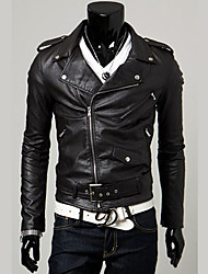 cheap -Men's Weekend Punk & Gothic Slim Jacket-Solid Color
