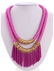 cheap -Women's Crystal Layered Necklace Statement Necklace  -  Tassel Multi Layer European Screen Color Necklace For