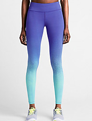 cheap -Women's Pocket Running Tights - Blue Sports Fashion, Color Gradient Leggings Yoga, Exercise & Fitness, Gym Activewear Lightweight, Quick Dry, Breathable High Elasticity