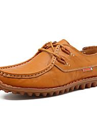 abordables -Homme Chaussures Similicuir Printemps Eté Confort Mocassins et Chaussons+D6148 Marche pour Décontracté Noir Bleu Brun claire
