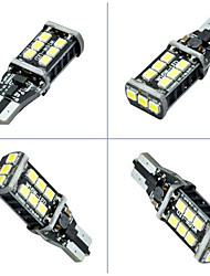 cheap -2pcs Ding Yao T10 2835 15smd Reversing light 400-600LM 6000K DC12V